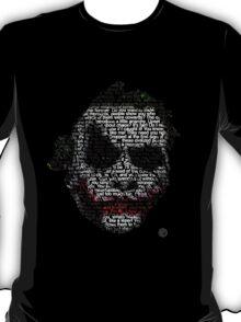 Dark Knight Joker - Typography   T-Shirt