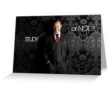Go Study—Mycroft Holmes Greeting Card
