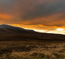 Ben Rinnes at sunset. by JASPERIMAGE