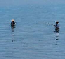 Lake fishing by A.Lwin Digital - Chasing the Inspiration