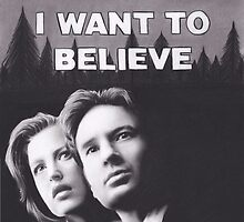 I Want to Believe X Files by brittnideweese