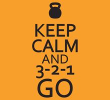 Keep Calm and 3-2-1 Go Workout Tee. Crossfit Tee. Exercise Tee. Weightlifting Tee. Running Tee. Fitness by Max Effort