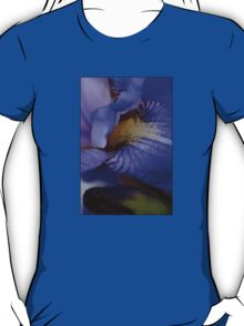 blue iris flower and bud abstract T-Shirt