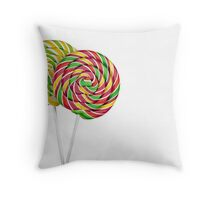 Two lollipops  Throw Pillow