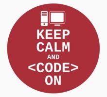 Developer? Keep Calm and Code On by Albert Fajarito