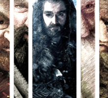 The Hobbit - Bilbo, Thorin, the Dwarves and Smaug Sticker