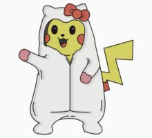 Pikachu wearing hello kitty onsie. by SeDesigns221