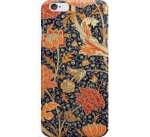 William Morris Cray Blue and Orange iPhone Case/Skin