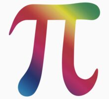 Colorful pi symbol stickers by Mhea