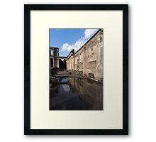 Reflecting on Pompeii Framed Print