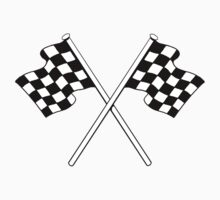 chequered flags Sticker, Hotrod sticker, vespa, vw camper sticker, lambretta sticker,  by ScreamingDemons
