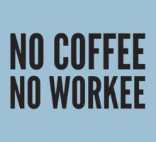 No Coffee No Workee by BrightDesign