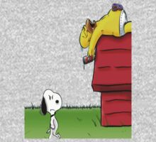 Snoopy and Homer by Undernhear