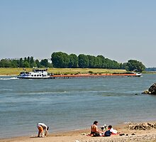 The Rhine at Meerbusch, NRW, Germany. by David A. L. Davies