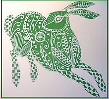 Zentangle Hare by margaretfraser