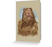 The Cowardly Lion Greeting Card