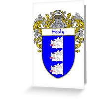 Healy Coat of Arms/Family Crest Greeting Card
