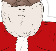 Angry Black Santa Claus  Sticker