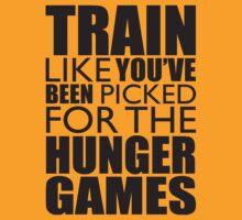 Train Like You've Been Picked For The Hunger Games (black ink) Workout Tee. Crossfit Tee. Exercise Tee. Weightlifting Tee. Running Tee. Fitness by Max Effort