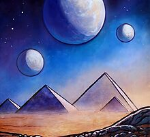 Alien Landscape V - Outer Space Pyramids by Stefan Boettcher