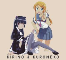 Kirino and Kuroneko by PinkiexDash