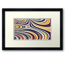 Color and Form Abstract - Curved Rounded Lines Flowing  Framed Print
