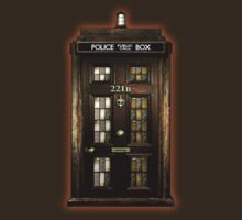 Old Rustic Sherlock Phone box by threesecond