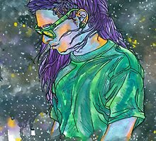 skrillex in space by Ashley Peppenger