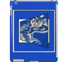 blue boy runnin' (square) (front) iPad Case/Skin