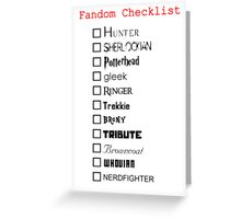 What's your fandom? Greeting Card