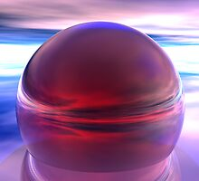3D Red Sphere Modern Design by tidyware