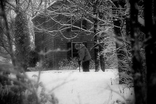Shoveling Snow by njordphoto