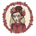 Lace & Rose - Sugarskull sister by Emma Hampton