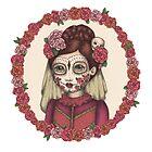 Lace & Rose - Sugarskull sister by Emma Hampton