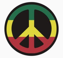 Rasta Peace Symbol by AbsoluteLegend