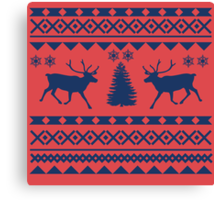 Ugly Sweater Design Canvas Print