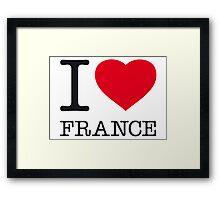 I ♥ FRANCE Framed Print