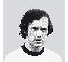 My Beckenbauer soccer legend poster by Chungkong
