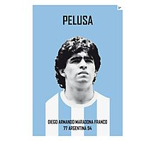 My MARADONA soccer legend poster Photographic Print