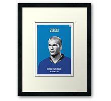 My Zidane soccer legend poster Framed Print