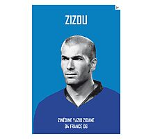 My Zidane soccer legend poster Photographic Print