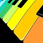Piano Keyboard Rainbow Colors  by BluedarkArt