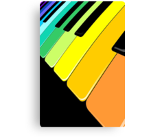 Piano Keyboard Rainbow Colors  Canvas Print
