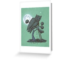 The Night Gardener  Greeting Card