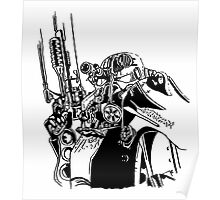 Fallout 3 Power armour Inked Poster