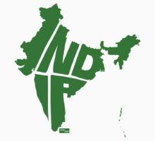 India Type Map (Green) by seanings