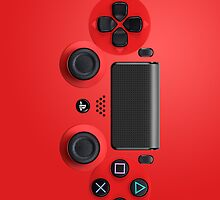 PS4 Controller Red by sando91