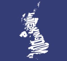 UK Type Map (White) by seanings