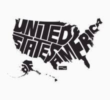 USA Type Map (Black) by seanings
