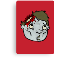 Zombie Head Canvas Print
